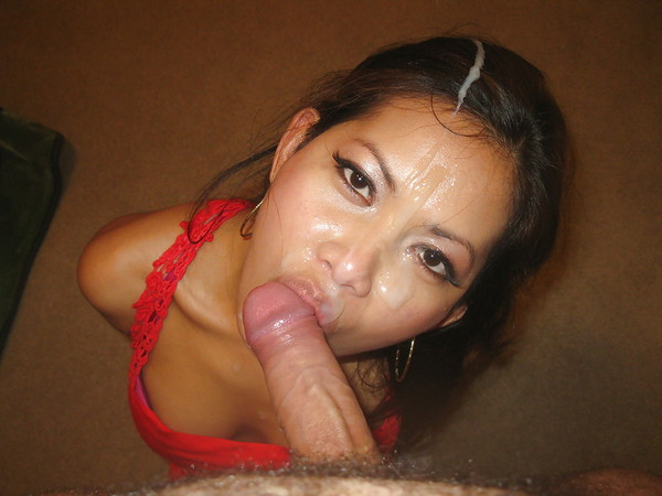Deepthroat cumshot asian